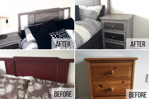 bedroom furniture wrapped in vinyl